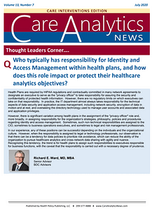 Care Analytic News Reprint - Thought Leaders Corner - R Ward - 2020-07