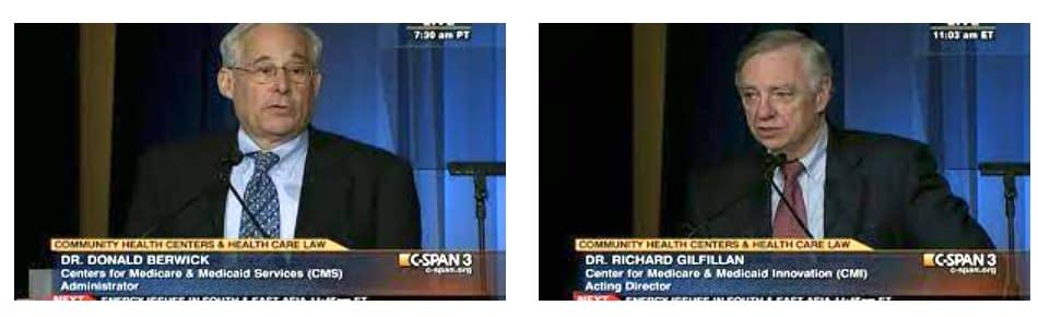 Donald Berwick and Richard Gilfillan in 2010 on C-SPAN